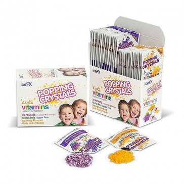 IceFX Popping Crystals Kids Daily Multi-Vitamins | Bulu Box - sample superior vitamins and supplements