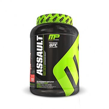 Muscle Pharm Assault-Raspberry Lemonade pre workout mix drink