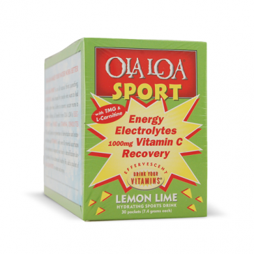 Ola Loa Sport - Lemon Lime   Bulu Box - sample superior vitamins and supplements