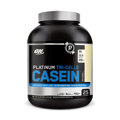 Optimum Nutrition Platinum Tri-Celle Casein Vanilla Bliss | Bulu Box - sample superior vitamins and supplements