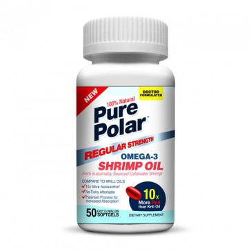 Pure Polar Omega-3 Shrimp Oil - Regular Strength | Bulu Box - Sample Superior Vitamins and Supplements