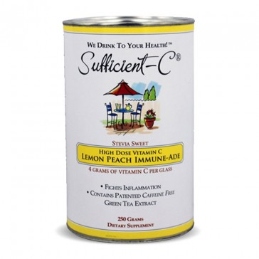 Sufficient-C High Dose Lemon Peach Immune-Ade Drink Mix | Bulu Box -sample superior vitamins and supplements