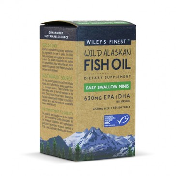 Wiley's Finest Wild Alaskan Fish Oil Easy Swallow Minis | Bulu Box - sample superior vitamins and supplements