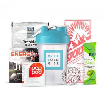 Shapeologist Blender Bottle Bundle | Beauty Infusions, Fanda Labs, PepPods, SporTea, Everlast Lean | Bulu Box - sample superior vitamins and supplements