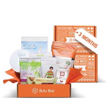 Get the gift of of health! For three months, you'll receive a Bulu Box filled with 4 to 5 premium, curated samples from top brands. Look forward to a new mix of products for both women and men, including vitamins, weight loss, sports nutrition,
