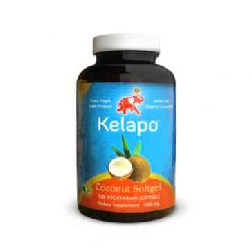 Kelapo Vegetarian Coconut Oil Softgels 120ct   Bulu Box - sample superior vitamins and supplements
