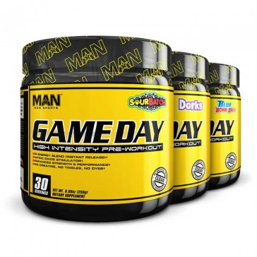 Man Sports Game Day | Bulu Box - sample superior vitamins and supplements