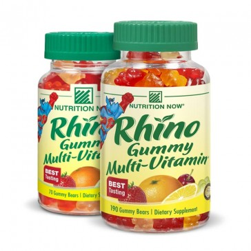 Nutrition Now Rhino Gummy Multi-Vitamin chews | Bulu Box - sample superior vitamins and supplements