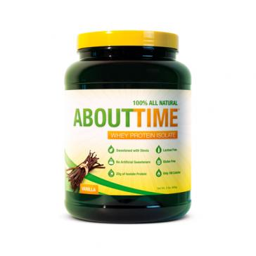 About Time 100% Whey Protein - Vanilla | Bulu Box - sample superior vitamins and supplements