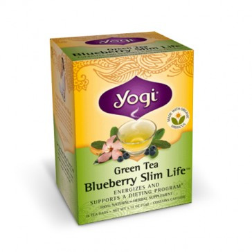 Yogi Green Tea Blueberry Slim Life | Bulu Box - sample superior vitamins and supplements