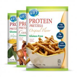 Kay's Naturals Gluten-Free Protein Pretzel Sticks | Bulu Box - sample superior vitamins and supplements