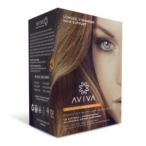 Aviva Advanced Hair Nutrition 60 Day Supply   bulu box sample superior vitamins and supplements